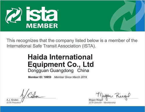 Packaging Testing ISTA Member